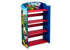 Bookshelf Mickey Mouse Storage Kids Room Furniture Wooden Organizer Bookcase NEW Mickey Mouse Room, Disney Mickey Mouse Clubhouse, Wood Bookshelves, Bookshelves Kids, Bookcase Organization, Bookshelf Storage, Wooden Organizer, Kids Room Furniture, Ideas Hogar