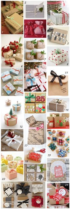 DIY wrapping ideas almagra32: DIY: envolviendo los regalos
