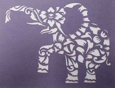 Elephant Flourish Stencil by kraftkutz on Etsy