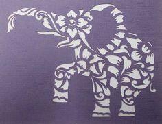 Elephant Flourish Stencil by kraftkutz on Etsy