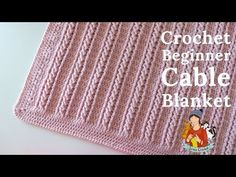 Crochet Easy Beginner Cable Blanket Tutorial You are in the right place about Crochet for beginners Here we offer you the most beautiful pictures about. Crochet Baby Blanket Free Pattern, Crochet For Beginners Blanket, Afghan Crochet Patterns, Crochet Stitches, Crochet Simple, Crochet Cable, Kids Hairstyle, Long Hairstyle, Hairstyle Ideas
