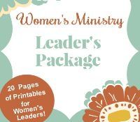Women's Ministry Leader Package