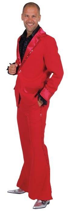 Rood bling bling kostuum