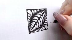Doodle Art Drawing, Zentangle Drawings, Mandala Drawing, Zentangles, Easy Doodle Art, Doodle Art Designs, Illusion Kunst, Illusion Art, Art Drawings Sketches Simple
