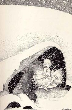 ≍ Nature's Fairy Nymphs ≍ magical elves, sprites, pixies and winged woodland faeries - Dorothy Lathrop (American, The fairy queen withdraws inside her cave. Kobold, Ouvrages D'art, Vintage Fairies, Art Et Illustration, Fairytale Art, Art Graphique, Fairy Art, Mythical Creatures, Faeries