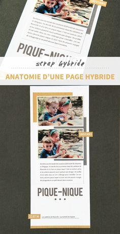 Découvrez ce qu'on appelle le scrap hybride et comment créer une page de scrapbooking hybride à partir d'une page de digiscrap.