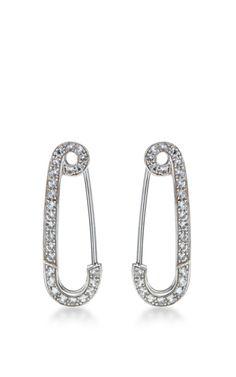 Classic Wishing Safety Pin Earring by Genevieve Jones for Preorder on Moda Operandi