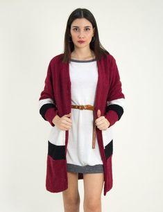 Γυναικεία μπορντό φλις ζακέτα τριχρωμη μακριά 11099F  #zaketa #gynaikeia #ζακετα #torouxo #plekto Sweaters, Fashion, Moda, Fashion Styles, Sweater, Fashion Illustrations, Sweatshirts, Pullover Sweaters, Pullover