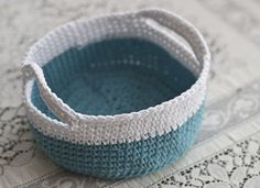 Crochet Basket pattern from Ravelry by s. jane!, via Flickr