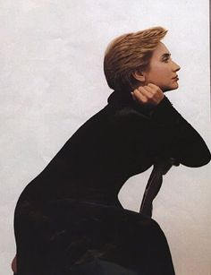 Hillary Rodham Clinton, photographed at the White House by Annie Leibovitz for the December issue of Vogue magazine, appears in a somewhat uncharacteristic pose.