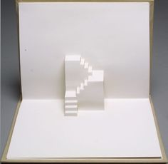 Untitled eighth image in the book Stairs by Rein Jansma and Joost Elffers (Joost Elffers Books: 1982 republished Hong Kong: Stewart Tabori and Chang Rein Jansma Joost Elffers Books Kirigami, Up Book, Book Art, Book Stairs, Sliceform, Crate Desk, Paper Art, Paper Crafts, Paper Structure