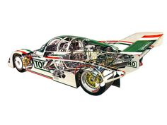 1984-91 Porsche 962 cutaway by David Kimble (unverified)