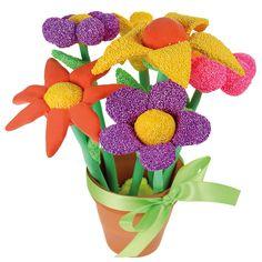 Upeat kukkaset on valmistettu helmi- ja silkkimassasta! Kukkien varsina toimivat massalla päällystetyt puutikut. Joidenkin kukkien sisällä on myös pieniä massapalloja, jolloin massan menekki on vähäisempää. Tarvikkeet ja ideat Sinellistä!