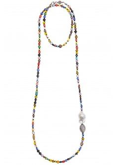 African Bead Strand Necklace