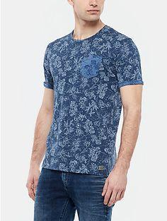Print t-shirt donkerblauw - The Sting