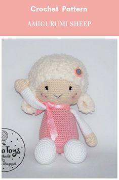 Lilin crochet sheep amigurumi pattern #crochet #crochetpattern #amigurumicrochetpattern #crochetamigurumi  #sheepcrochetpattern #crochetsheep #sheepamigurumi Affiliate Link Crochet Sheep, Crochet Patterns Amigurumi, Crochet Toys, Doll Toys, Dolls, Childrens Hospital, Amigurumi Toys, Knitting Ideas, Crochet Ideas