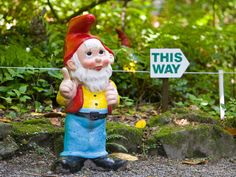 """ENGLAND'S GNOME RESERVE ~ There's no place like the Gnome Reserve: Fans of the cheeky lawn ornaments can travel here to see more than 1,000 gnomes and pixies in their natural outdoor habitat. (There are also more than 250 labeled species of wildflowers.) The Reserve hosts an on-site museum with a collection of antique statues. The dress code? Pointed hats and fishing rods are loaned out to visitors for free, """"so you don't embarrass the gnomes."""""""