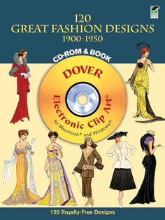 120 Great Fashion Designs, 1900-1950, CD-ROM and Book. too legit to quit