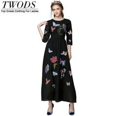 L- 5xl Embroidery Black Maxi Dress Fall XXXL 4XL 5XL Slim Fit Flare Vestidos De Fiesta Like if you remember http://www.artifashion.net/product/l-5xl-embroidery-black-maxi-dress-fall-xxxl-4xl-5xl-slim-fit-flare-vestidos-de-fiesta/ #shop #beauty #Woman's fashion #Products