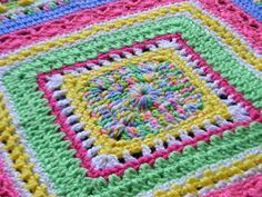 Bizzy Crochet: Faeries- Sampler Baby Afghan Pattern (click on picture for downloaded instructions)