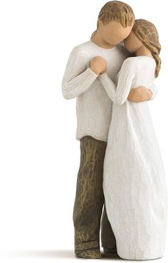 Amazon.com: Willow Tree Promise, Sculpted Hand-Painted Figure: Home & Kitchen Willow Tree Promise, Willow Tree Angels, 9 Year Anniversary, Anniversary Gifts For Him, Body Gestures, Valentine Decorations, Perfect Pillow, American Artists, Maid Of Honor