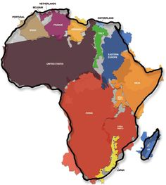 The United States x Africa | 19 Maps That Will Help You Put The United States In Perspective