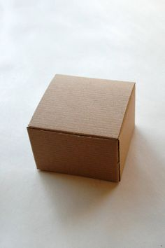 Brown Kraft Gift Boxes DIY - Set of 50 - Perfect with Twine or Deco Tape - Packaging - 3 x 3 x 2 Inches. $14.75, via Etsy.