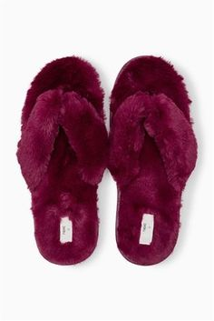 a449a66845965 Buy Berry Toe Thong Faux Fur Slippers from Next USA Faux Fur