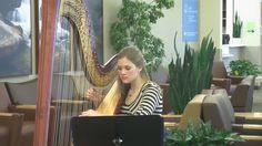 Harpists help create soothing atmosphere in the Utah Valley Regional Medical Center lobby