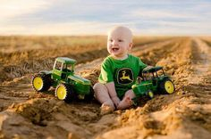 John deere.The toy on the left is a  1975 on JOhn Deere 1/16th 8630 toy tractor