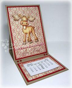 Stempeleinmaleins: Kalenderkarte - calendar card