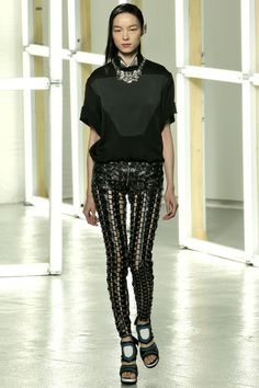 Rodarte #31--How is this level of sophistication possible in pants held oh-so-precariously together by leather stitches????