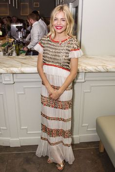 Cat On A Hot Tin Roof afterparty, London - July 24 2017 Sienna Miller in Chanel Resort.