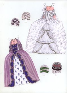Marie A white and purple-blue dress by Pat O'Rourke