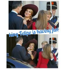The king and queen are saying goodbye and King Felipe and Queen Maxima are having fun  #kingFelipeVI #QueenLetizia #kingWillemAlexander #QueenMaxima #españa #dutchroyals #PalaceNoordeinde #theHague #fun