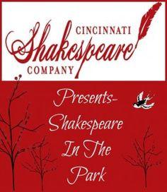 Cincinnati Shakespeare Company presents: Shakespeare in the Park!