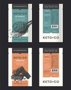 10 inspirational graphic design trends for 2018. Keto + Co product packaging featuring dynamic duotones, designed by ::scott:: #2018designtrends #graphicdesigntrends #packagingdesign