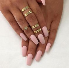 #pinknails #goldaccessories #girly