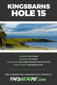 One of the most famous par 3 holes in the world: Kingsbarns Golf Links - Hole #15