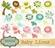 Baby Lions ~ Illustrations on Creative Market