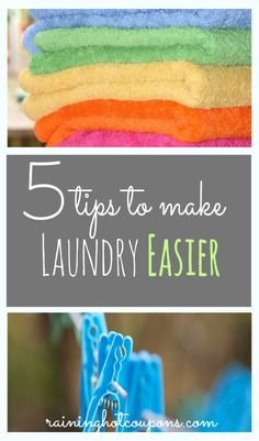 5 Tips To Make Laundry Easier!