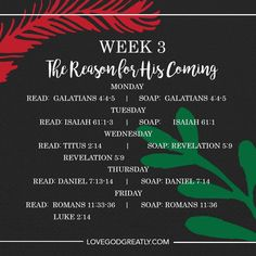 {Week 3 - Reading Plan} #GodWithUs Bible Study @ LoveGodGreatly.com