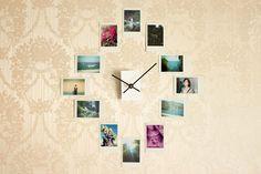 "Make an Easy DIY Wall Clock from Photos. I like the idea of a ""good times"" wall clock. Diy Simple, Easy Diy, Cool Diy, Diy Room Decor, Bedroom Decor, Home Decor, Bedroom Ideas, Bedroom Wall, Art Decor"