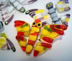 Fused glass butterflies by Julia Rezinsky, via Behance