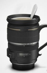 There's a lot of camera mugs out there but I love the ones with mug handles on them!