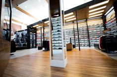Shoe Palace by Double Europe, Los Angeles – California » Retail Design. Visit City Lighting Products! https://www.facebook.com/CityLightingProducts