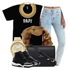 """""""."""" by trillest-queen ❤ liked on Polyvore featuring Charlotte Russe, Sloane, Michael Kors, NIKE and A.V. Max"""