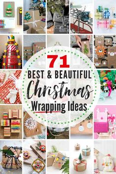 These Are The 71 Best Christmas Wrapping Ideas Around From Merry and Bright To Rustic and Refined, There Are Gorgeous Gift Wrap Ideas For Everyone On Your List This Holiday Season. A portion Of These Gift Wrappings Are A Gift Unto Themselves Christmas Gift Wrapping, Best Christmas Gifts, All Things Christmas, Holiday Crafts, Christmas Crafts, Christmas Ideas, Holiday Ideas, Origami Christmas, Winter Holiday
