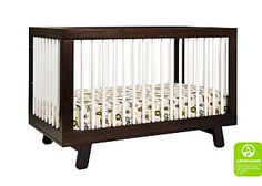 In white - Hudson 3-in-1 Convertible Crib with Toddler Rail