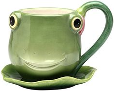 The Frog Store :: Kitchen & Dining :: Mugs, Cups, Shot Glasses :: Fairy Frog Porcelain Teacup & Saucer Sapo Frog, Frog House, All Meme, Teapots And Cups, Teacups, Cute Frogs, Green Frog, Frog And Toad, Frog Frog
